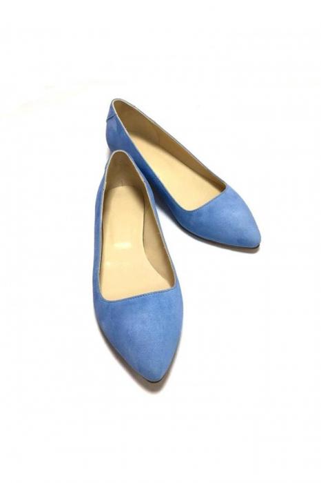 Balerini din piele Blue Velvet CoraN 1