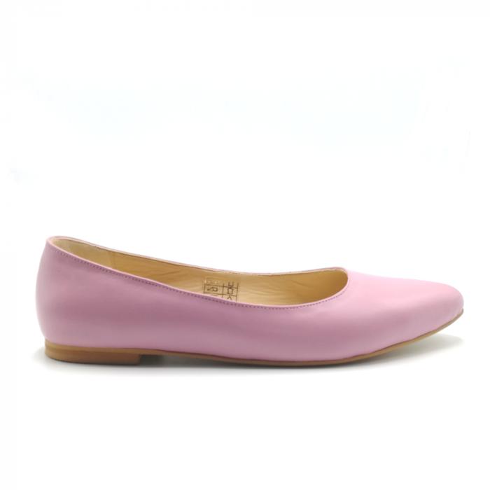 Balerini din piele naturala Pink CA05 0