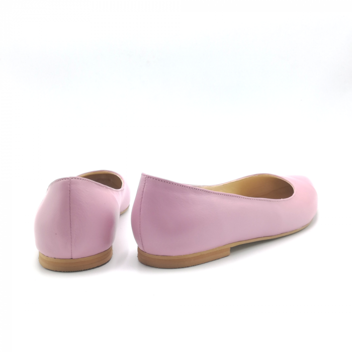 Balerini din piele naturala Pink CA05 2