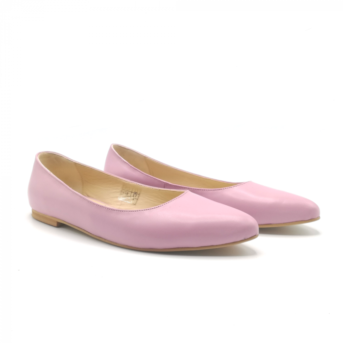 Balerini din piele naturala Pink CA05 1