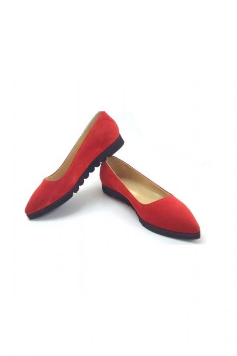 Balerini din piele Red Cora
