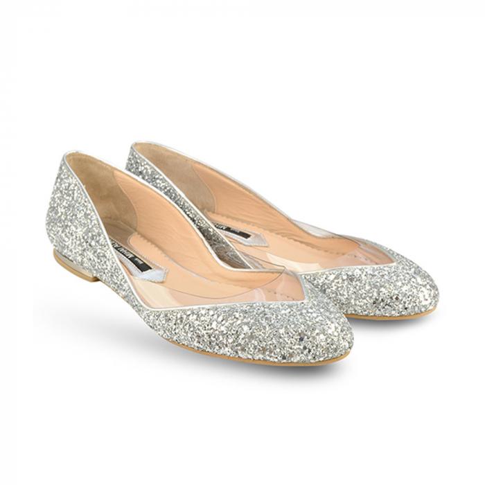 Balerini Mihai Albu din piele Silver Glamour, 40 1