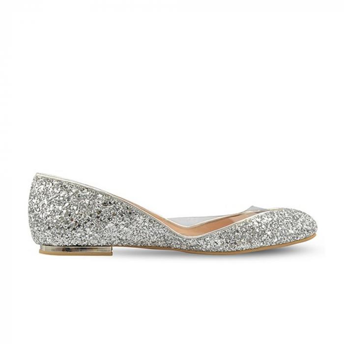 Balerini Mihai Albu din piele Silver Glamour, 40 0