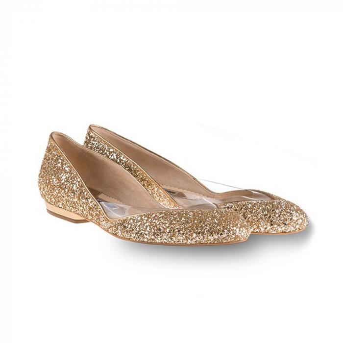 Balerini Mihai Albu din piele Gold Glamour [1]
