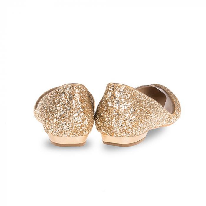 Balerini Mihai Albu din piele Gold Glamour [2]