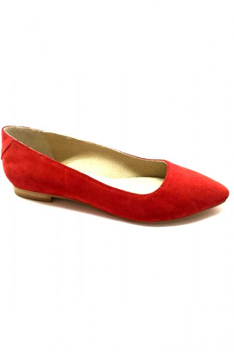 Balerini Piele Intoarsa Red Cora, 38 0