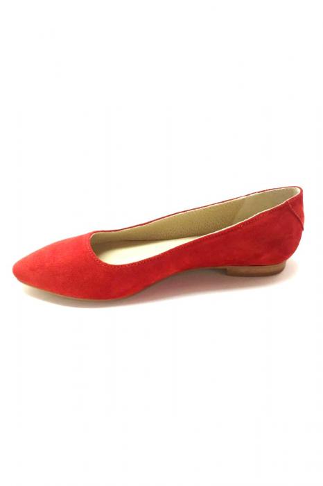 Balerini Piele Intoarsa Red Cora, 38 1