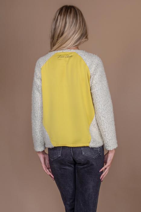 Bluza raglan oversize cu maneci lungi si imprimeu Zana 3