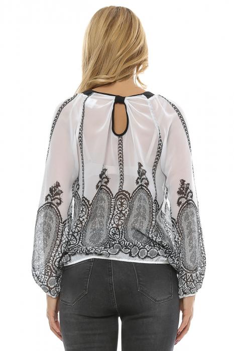 Bluza bufanta cu print digital B94 2