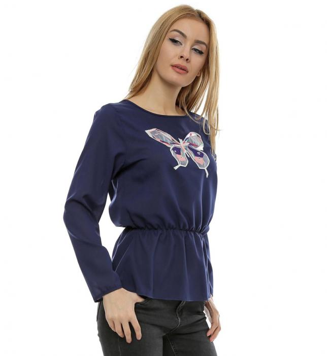 Bluza cu aplicatie fluture brodat B99 1