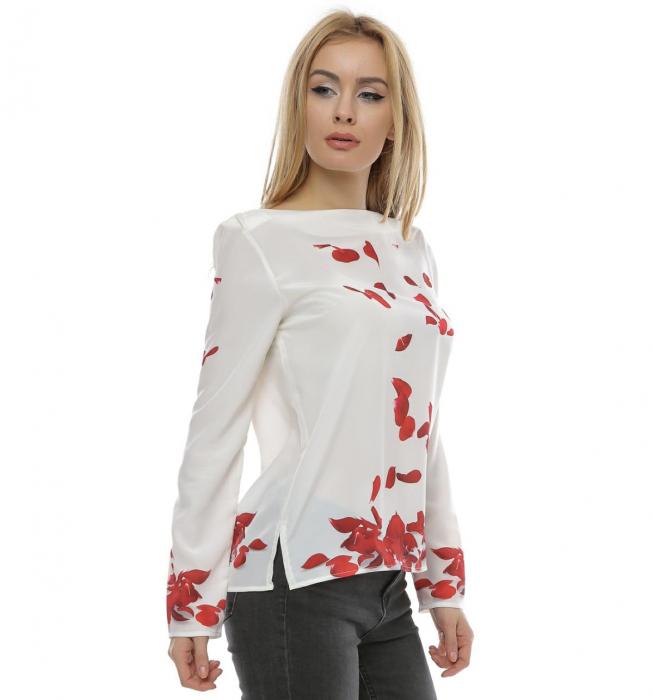 Bluza cu imprimeu petale trandafir B100 1