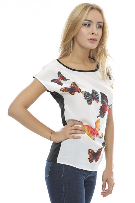 Bluza dama cu model imprimat fluturi B89 1
