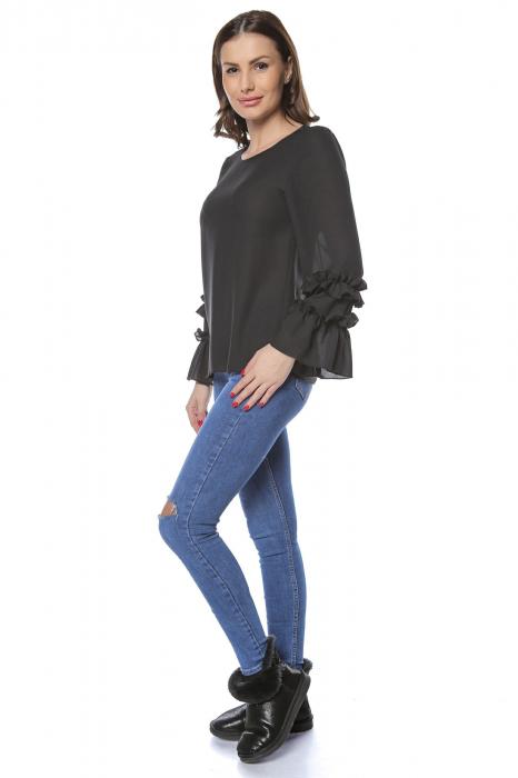 Bluza dama din vascoza Black B127 [2]
