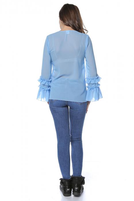 Bluza dama din vascoza Blue B124 2