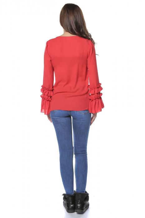 Bluza dama din vascoza Red B126 2