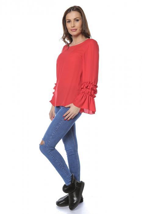 Bluza dama din vascoza Red B126 1