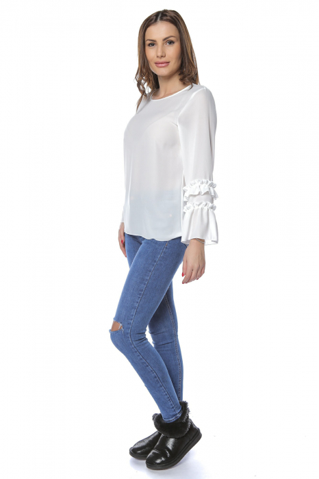 Bluza dama din vascoza White B123 [1]
