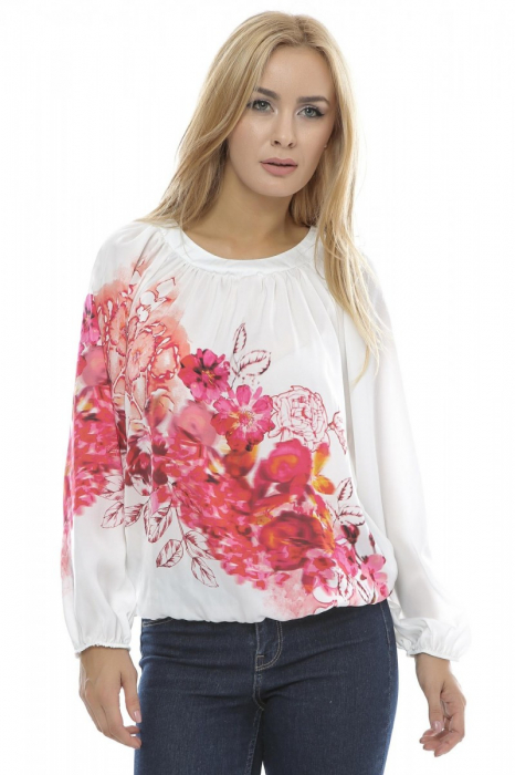 Bluza dama motive florale B91 1