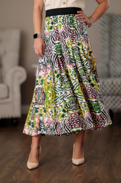 Pantaloni culottes vaporosi multicolori Clara [0]