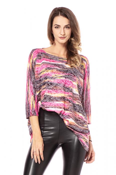 Bluza lejera roz cu maneci trei sferturi [0]