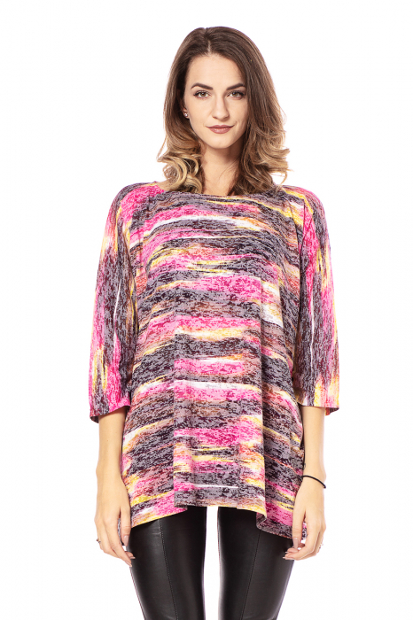 Bluza lejera roz cu maneci trei sferturi [1]