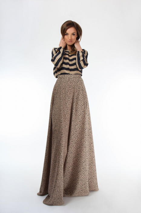 Bluza dama cu maneci lungi din matase Black&Golden 0