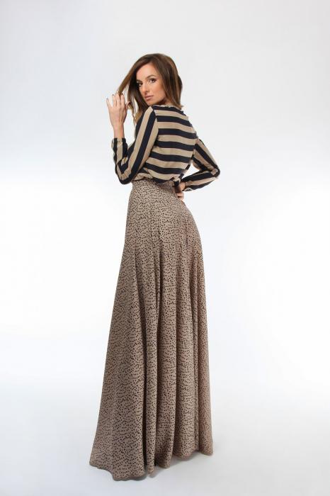 Bluza dama cu maneci lungi din matase Black&Golden 1