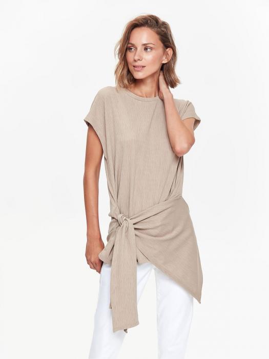 Bluza casual asimetrica fara maneci 0