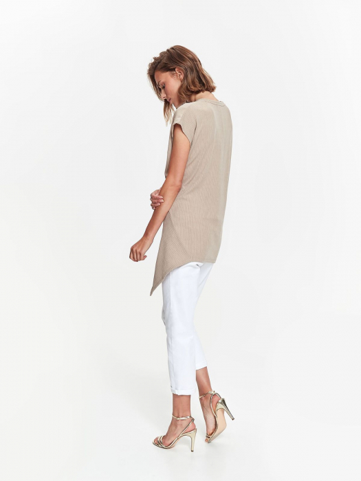 Bluza casual asimetrica fara maneci 2