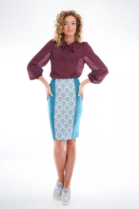Bluza violet cu guler funda 2