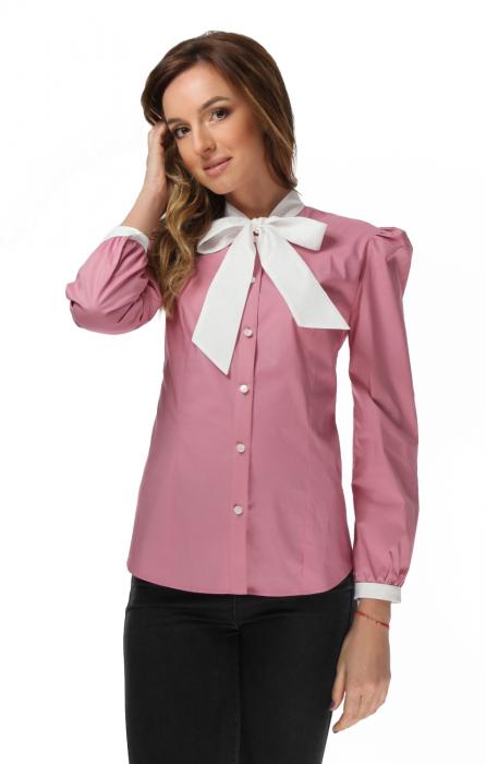 Camasa dama office roz cu funda alba [1]