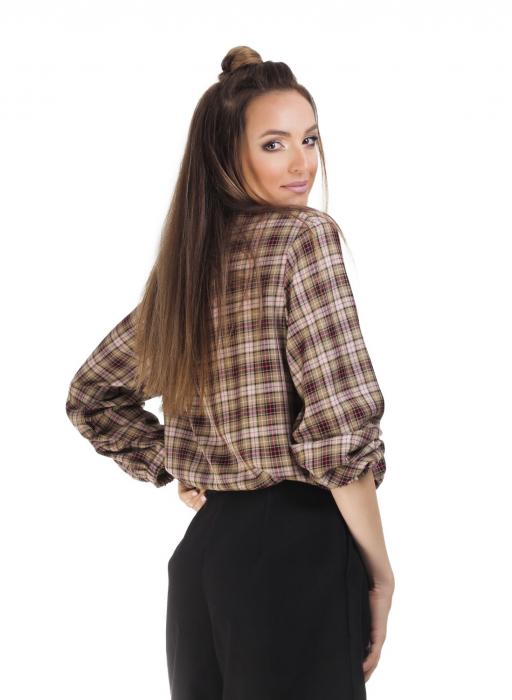 Bluza dama casual din bumbac in carouri 1