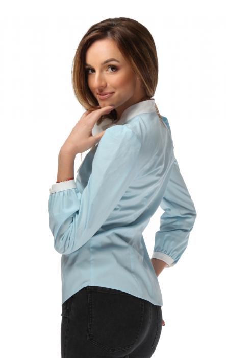 Camasa dama office bleu cu funda alba 1