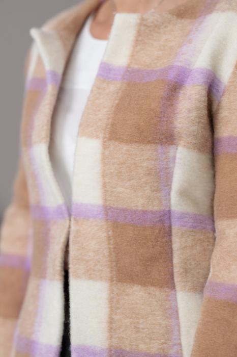 Sacou din stofa de lana in carouri Femina 4