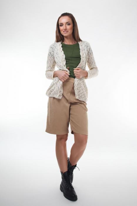 Cardigan dama tricotat Ivory 2