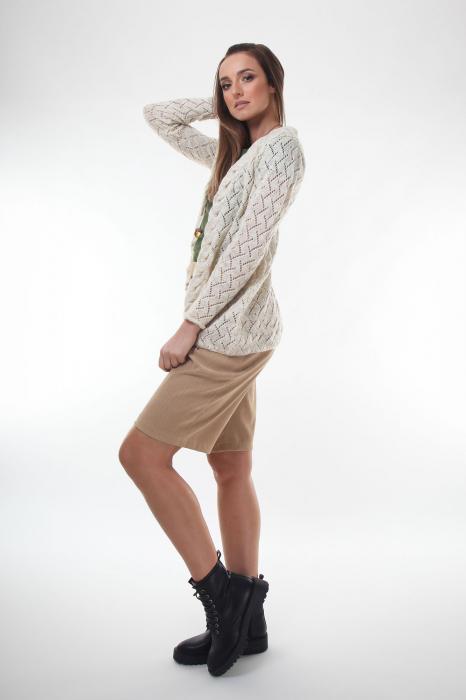 Cardigan dama tricotat Ivory 1