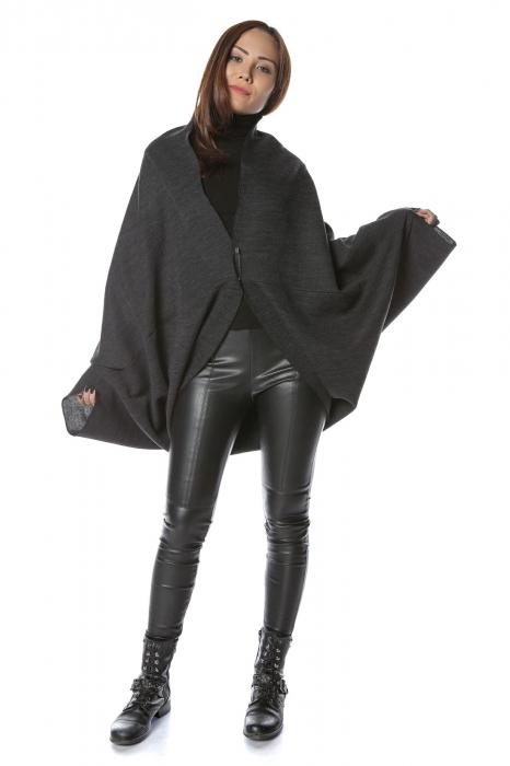 Cardigan scurt oversized Negru 2