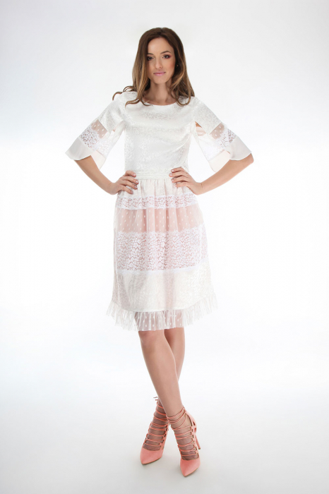 Fusta eleganta White Lace