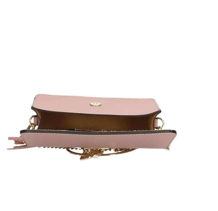 Geanta casual din piele naturala Powder Pink Ring
