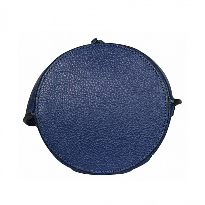 Gentuta tip bucket din piele naturala albastra Alcina 5