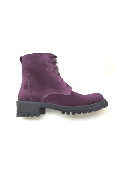 Ghete dama din piele Purple Irenne 1