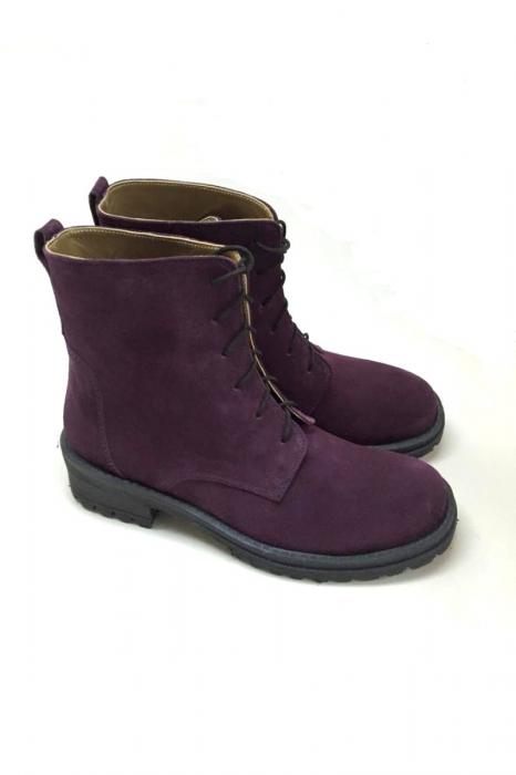 Ghete dama din piele Purple Irenne 2
