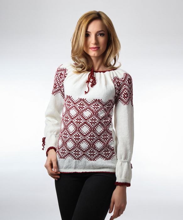 IE tricotata burgundy cu maneci lungi Onibon 0