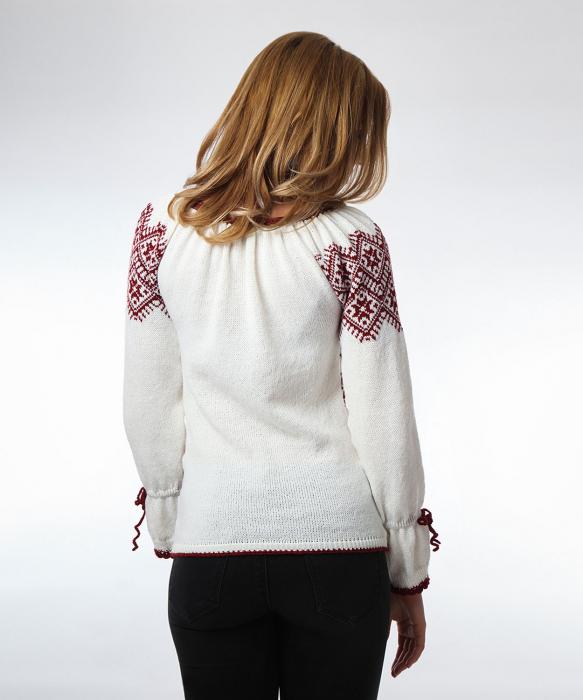 IE tricotata burgundy cu maneci lungi Onibon 2