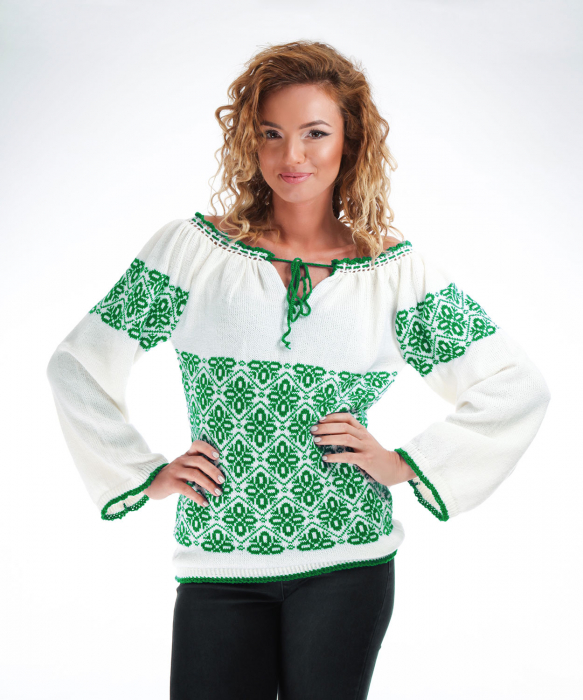IE tricotata cu model verde smarald Onibon [1]