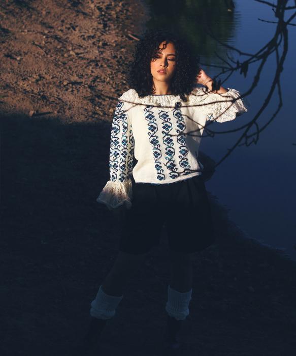 IE tricotata cu guler si model degrade Onibon 1
