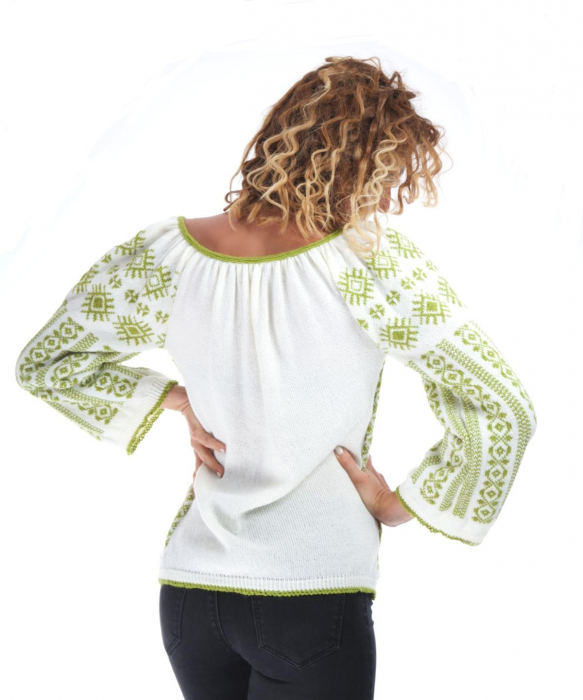IE tricotata cu model verde Onibon 1