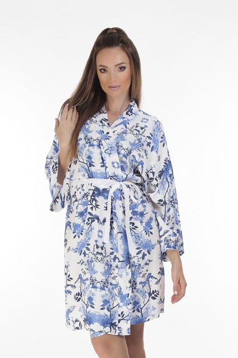 Kimono dama din vascoza cu imprimeu floral [1]
