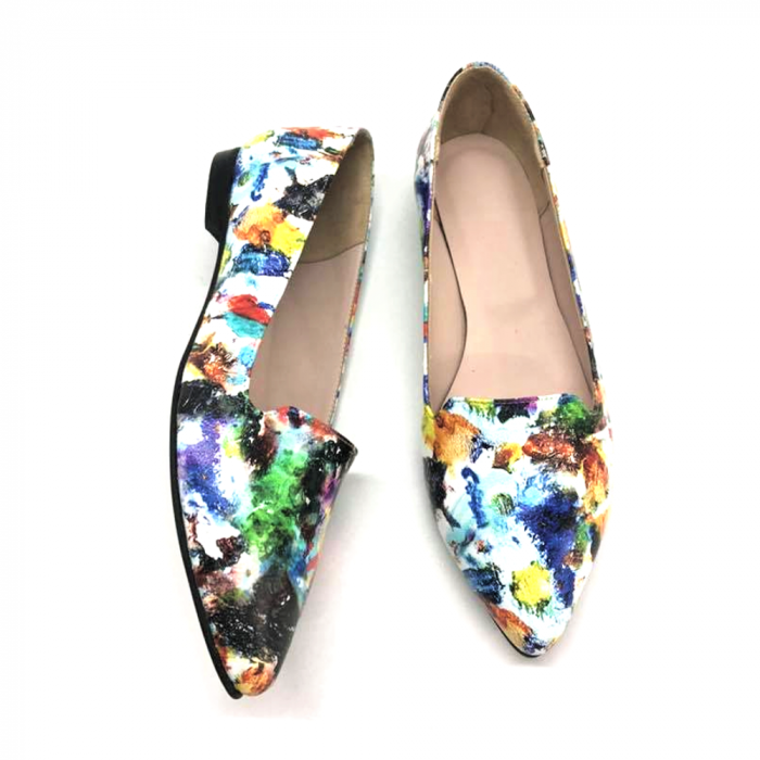 Loafers dama din piele naturala Painted Merry 2