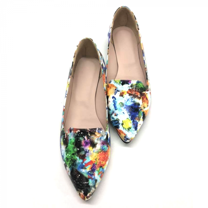 Loafers dama din piele naturala Painted Merry 3